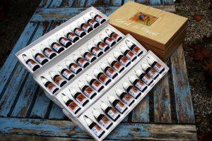 """Kit Original de Flores de Bach """"Gotas de Flores"""" Artesanales en Caja de Madera con sus 38 Flores de Bach y sus 2 Rescue de 15 ml"""