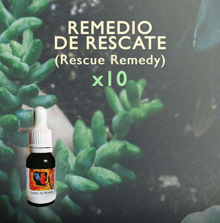 """OFERTAS Remedio de Rescate (RESCUE REMEDY). Llévate ahora tu set x10 Rescues de 15ml a un precio """"de lujo"""""""
